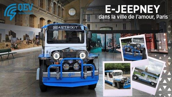 THE E-JEEPNEY DANS LA VILLE DE L'AMOUR, PARIS, QEV