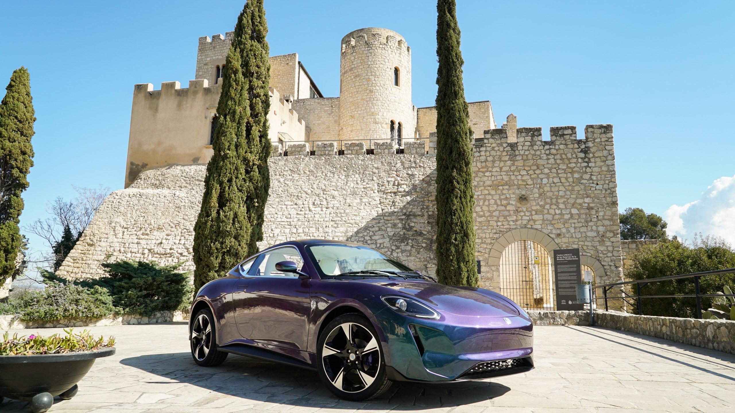 Zedriv GT3 in Barcelona landmark Castle of Castellet